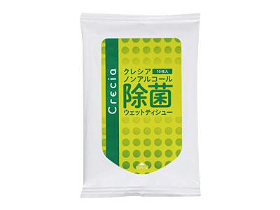 クレシア ノンアルコール除菌 ウェットティッシュ10